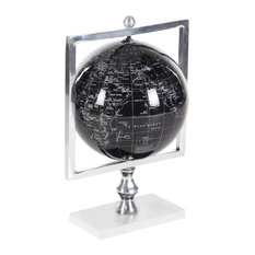 """GwG Outlet Aluminum Marble Pvc Globe, 9""""x15"""""""