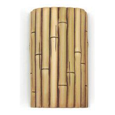 Bamboo Wall Sconce, Natural