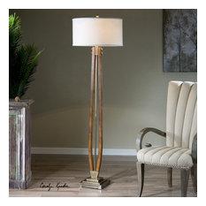 Uttermost Boydton Burnished Wood Floor Lamp
