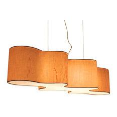 Wood veneer pendant lighting houzz lampa lampa cloud mesa pendant birch veneer pendant lighting mozeypictures Images