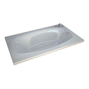 "Venzi Talia 36""x72"" Rectangular Whirlpool Jetted Bathtub By Atlantis"