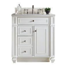 Bristol 30-inch Single Vanity Cottage White 3CM Galala Beige Top
