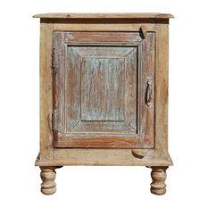 Horten Rustic Farmhouse Reclaimed Wood Nightstand Cabinet