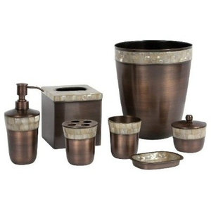 Opal 7 Piece Bathroom Accessory Set Copper