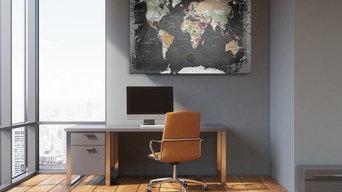Weltkarte als Pinnwand