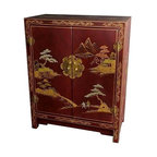 Shop Houzz Inviting Home Inc Hand Painted Red Cabinet