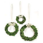Napa Home & Garden - Boxwood Wreath Assorted, Set of Three - Real English boxwoods, preserved and painstakingly assembled by our masterful artists. Artfully arranged and preserved to perfection.