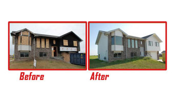 Before and After Fire Damage Restoration