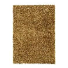 "Linon Confetti 1'10"" x 2'4"" Hand Tufted Shag Rug, Grass Green and Brown"