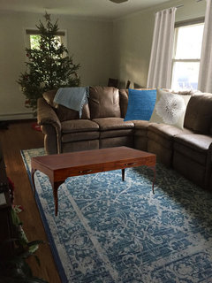 Round Or Rectangular Living Room Rug