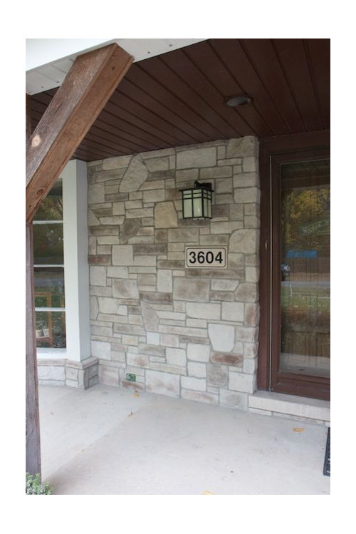 Exterior: New Before And After For Exterior Stone Work