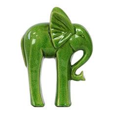 Ceramic Standing Elephant Figurine