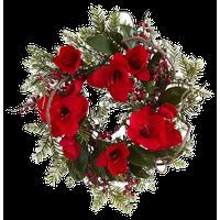 "24"" Amaryllis Wreath, Red"