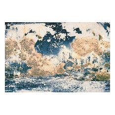 """Glacial Lake"", Unnatural Abstractions, 2003 Canvas Art, 32x48, Framed"