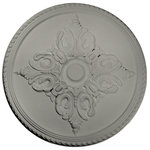 """Ekena Millwork - 54 1/4""""OD x 2 7/8""""P Milton Ceiling Medallion, Frost - 54 1/4""""OD x 2 7/8""""P Milton Ceiling Medallion (Fits Canopies up to 10 1/2""""), Hand-Painted Frost"""