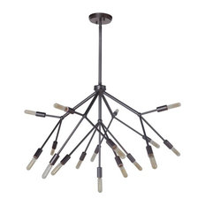 Aspen Seventeen Light 2-Tier Chandelier Oiled Bronze