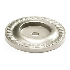 """Montcalm Forged Solid Brass 1-1/2"""" Diameter Satin Nickel Back-Plate"""