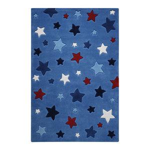 Smart Kids Simple Stars 3984-11 Rug, Blue, 130x190 Cm