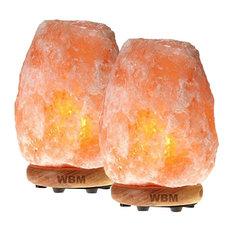 Himalayan Glow Large Salt Lamp, 8-11 lbs, Set of 2