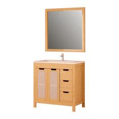 Bathforte S L Panama Bathroom Vanity Unit With Mirror 80 Cm
