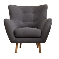 Cooper Retro-Scandinavian Dark Grey Armchair