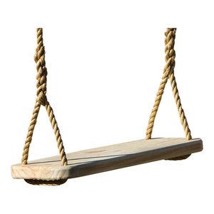 Wood Tree Swing 12' Rope Per Side, Free Hanging Kit