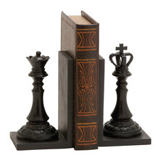 Polystone Chess Bookend Pair