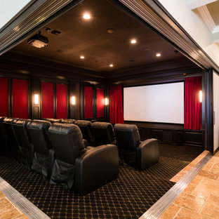 Adult Game Room with Bar and retractable wall theater