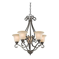 Camerena Chandelier 5-Light, Olde Bronze