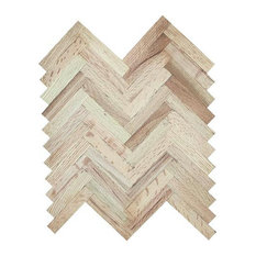 Solid Herringbone, Red Oak, 9""