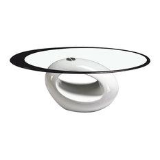 Stylish  Oval Shape Coffee Table, White