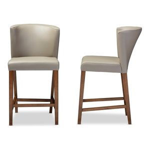 Gdf Studio Molle Mid Century Design Counter Stools Set Of