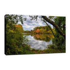 "Lost in Autumn Color Landscape Photo Fine Art Canvas Wall Art Print, 24""x36"""