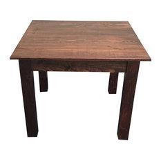"""Smooth Top Mahogany Farm Table, 42"""""""