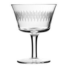 Retro Fizz Etched Cocktail Glass