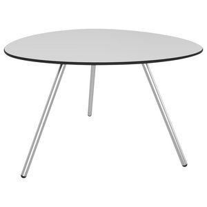 Big Dine A-Lowha Dining Table, Grey, Stainless Steel Frame
