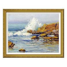 """Summer Sea, Laguna Beach"" Framed Canvas Giclee by Anna Althea Hills, 36x29"""