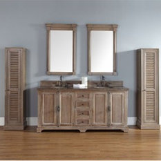 """Providence 72"""" Double Vanity Cabinet, Driftwood"""