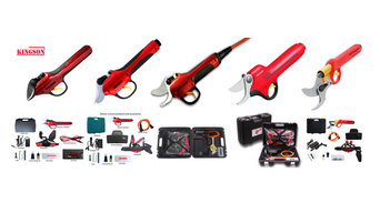 Kingson electric pruner and electric pruning shear