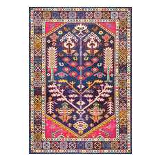 "Tribal Tonita Area Rug, Pink, 5'3""x7'7"""