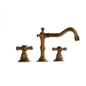 "Antique Brass Widespread 8"" Sink Brass Bathroom Basin Faucet"