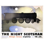 "ArteHouse - ""Lner Night Scotsman"" Wood Sign, 14""x20"", Planked - Artehouse wood signs add a touch of character to any room. Great for the cabin, beach house, winter chalet, kids room, game room, garage, kitchen or any room. Perfect as gifts to visitors or as a memento of places seen and loved. The sign comes ready to put on your wall with a saw tooth hanger. The sign is hand distressed to add to the vintage appeal. The image is printed directly unto the wood in a UV based archival quality ink to ensure fade resistance and last a lifetime."