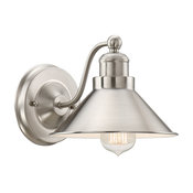 "Kira Home Welton 8.5"" Modern Industrial Wall Sconce, Brushed Nickel"