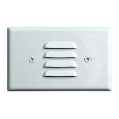 Elco ELST75 12V LED Horizontal Mini Step Light with Louvered Faceplate