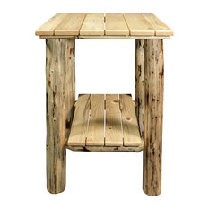 Montana Exterior End Table, Clear Exterior Finish