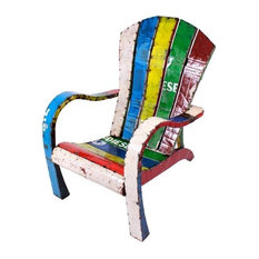 Think Outside The Throne Handmade Recycled Metal Lawn chair Garden Furniture