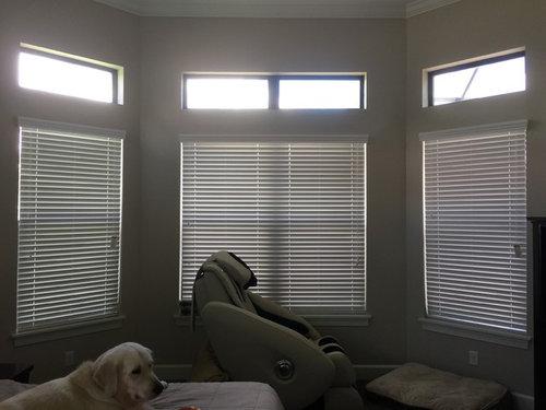 Transom Window Light Blocking Treatment