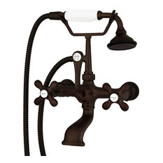 Wall-mount Faucet with British Telephone Handle, Oil-Rubbed Bronze