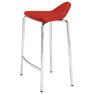 Plectrum 4-Legged Stool, Red, Low