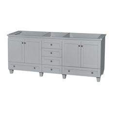 "Acclaim 80"" Double Vanity, Oyster Gray, No Countertop, No Sinks"